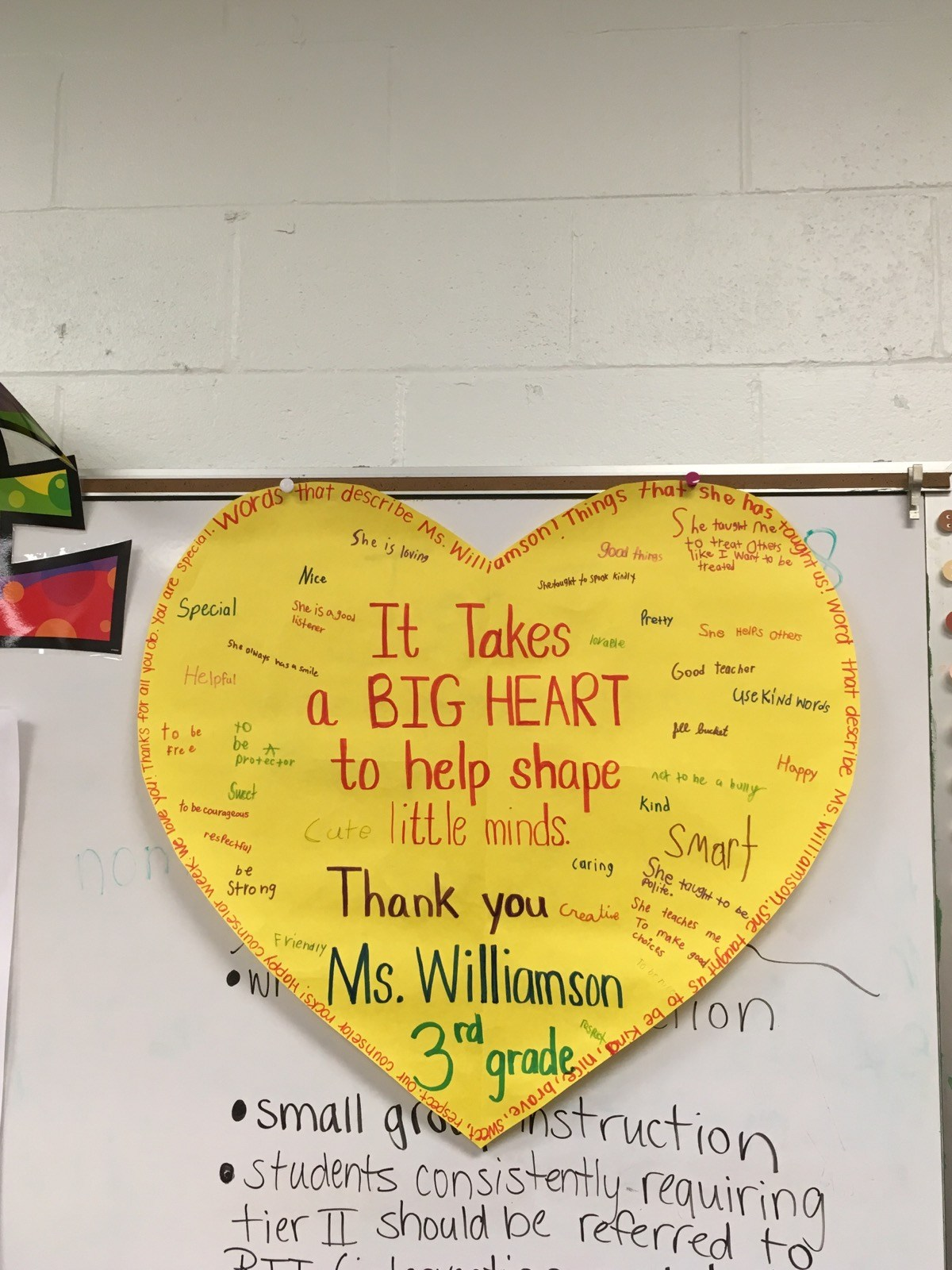 A Big Thank you to our Counselor with a Big Heart