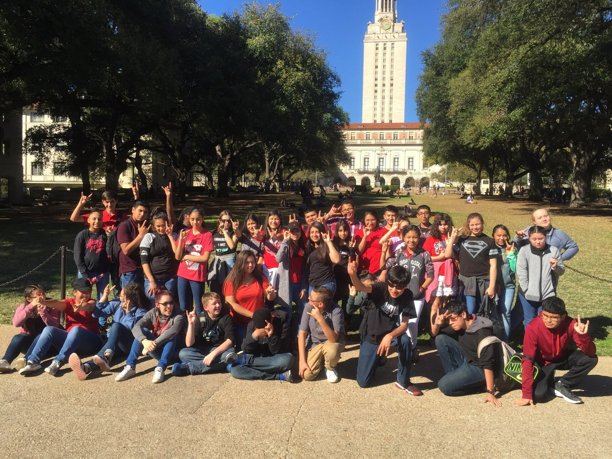 patti welder middle school avid students at the texas state capitol