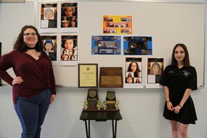 Pictured are Caryssa Ozuna and Nadia Reyna, State Finalist, in the 2017-2018 UIL Theatrical Competition.