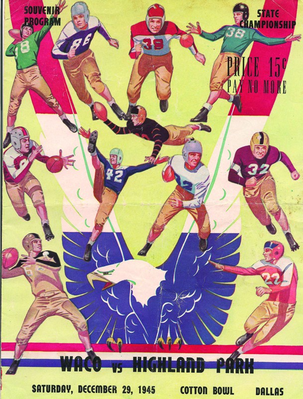 Program from HPHS' first football state championship