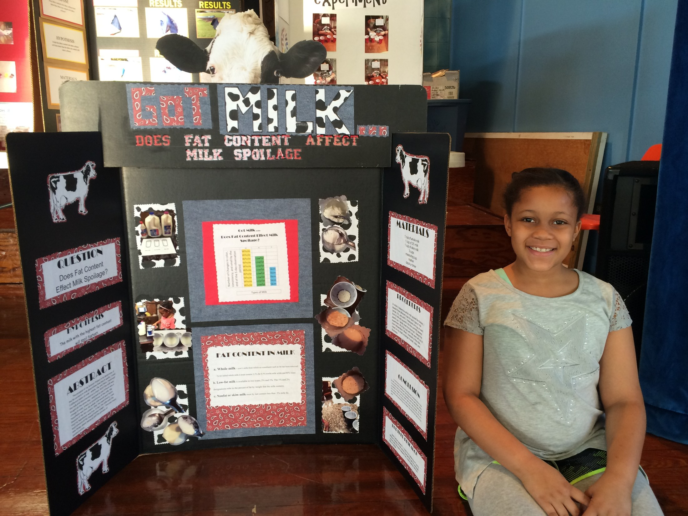 5th Grader that placed 2nd in Science Fair