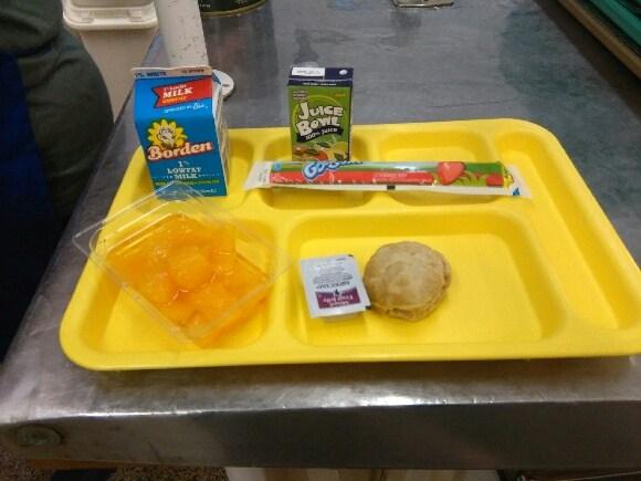 mini biscuit and gogurt breakfast tray