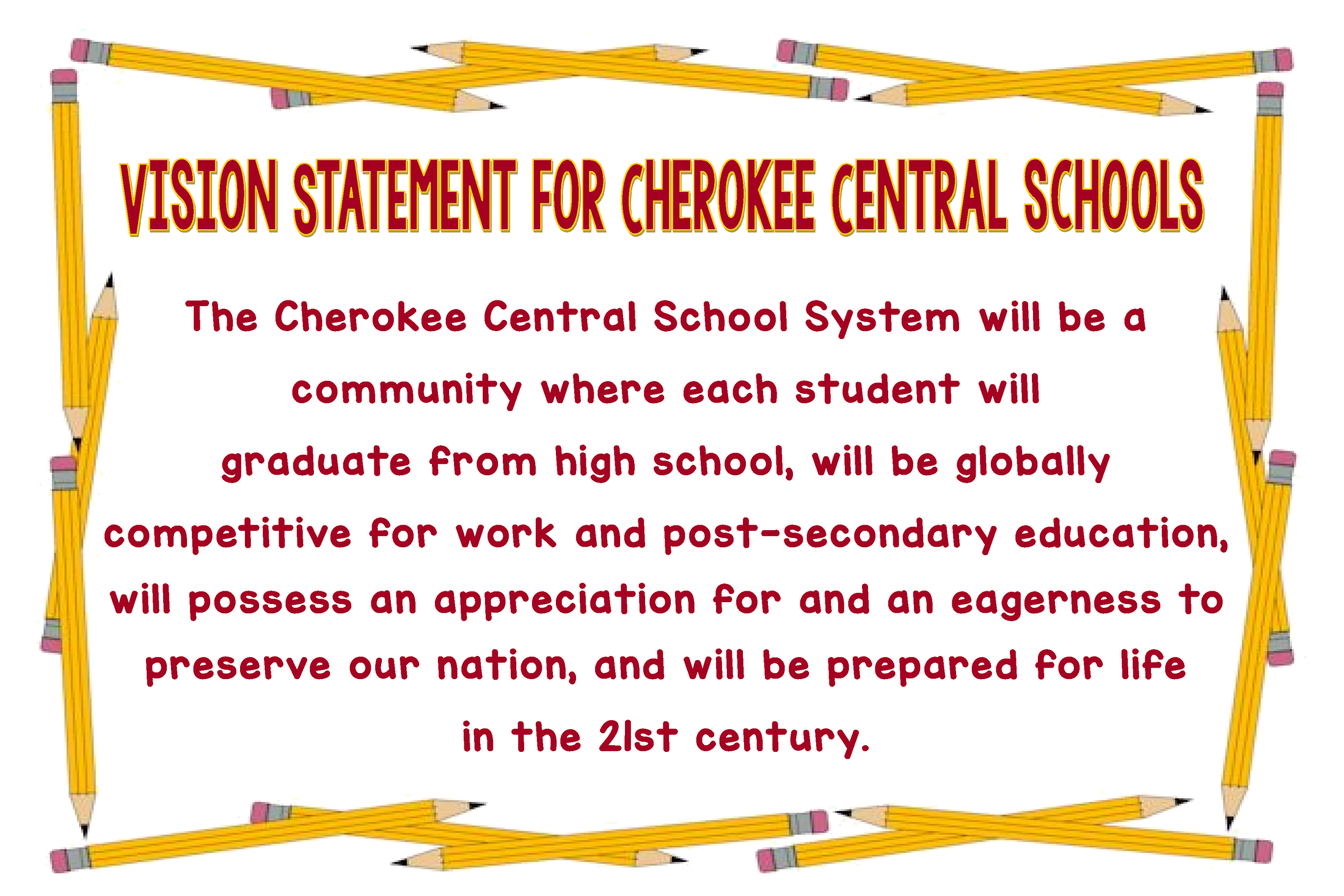 Vision Statement for Cherokee Central Schools