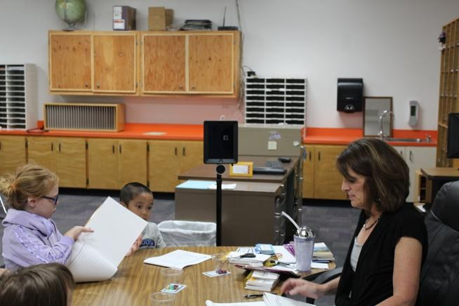 Cañon City School District students participate in literacy instruction in August. (Sara Knuth / Daily Record)