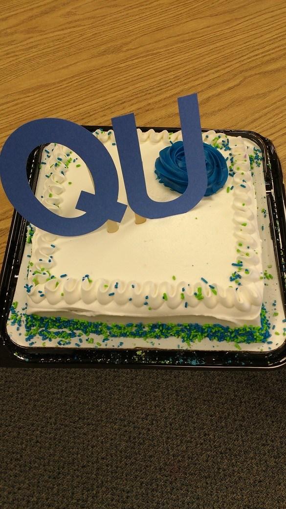 QU wedding cake