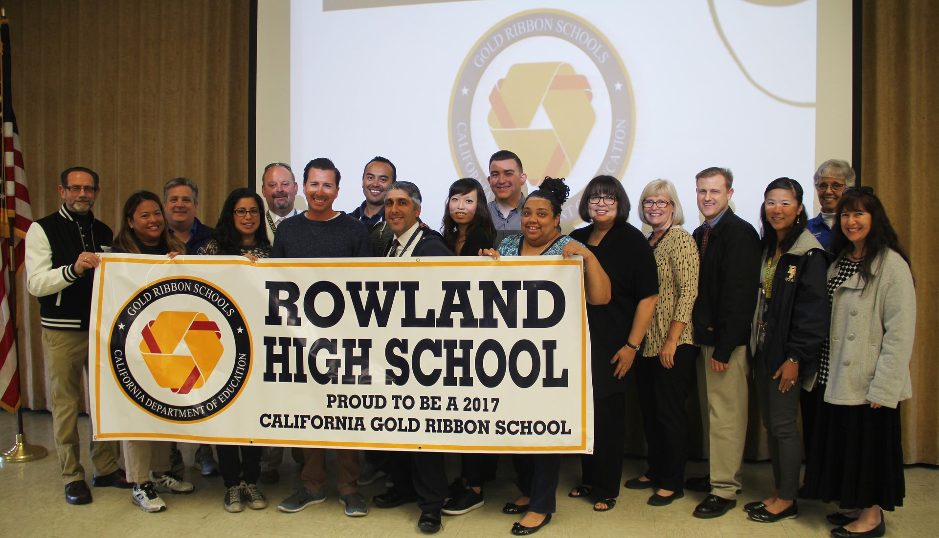 Rowland High Gold Ribbon Staff
