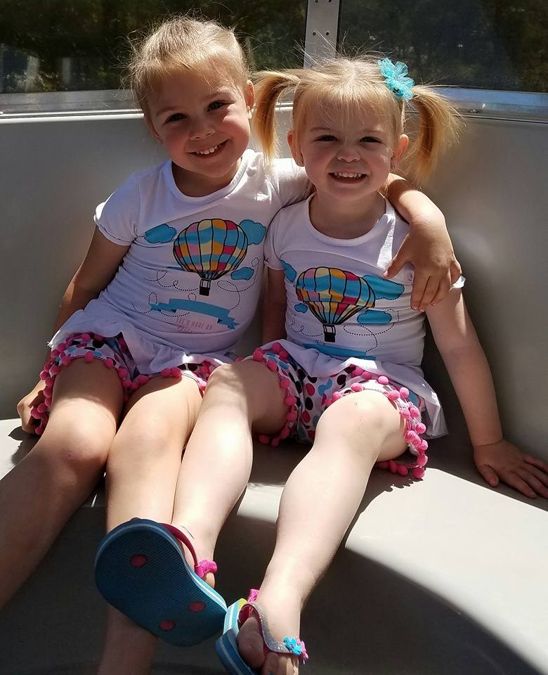 My two oldest daughters, Adalynn and McKinlee
