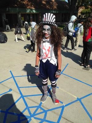 A creepy clown.
