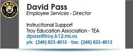 David Pass, dpass@troy.k12.mi.us.