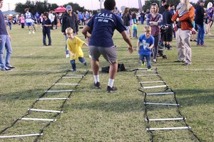 Brewer High School athletes taught kids a variety of skills learned in their team sports.