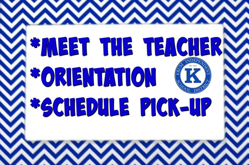 Meet the Teacher/Orientation Thumbnail Image