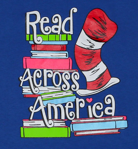 Read Across American logo with Dr. Suess hat