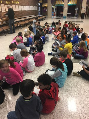 CCI third grade students get new dictionaries and begin defining words right away!