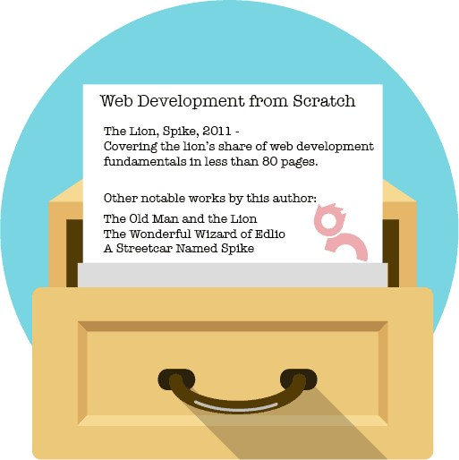 Web development library card