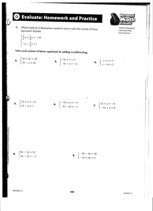 Quadratic Equations Worksheet Answers Excel Clayton Valley Charter High School Order Of Operations Pre Algebra Worksheets with Social Studies 5th Grade Worksheets Excel Worksheet Packet Titled Evaluate Homework And Practice  Odds   All This Packet Deals With Solving Linear Systems Using The  Elimination  Compare Decimals Worksheet Word