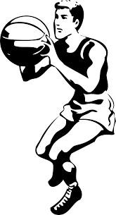 Boy shooting basketball clip art