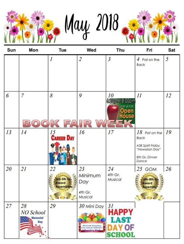 May Calendar Thumbnail Image