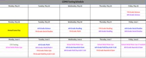 End of Year Testing & Activity Calendar