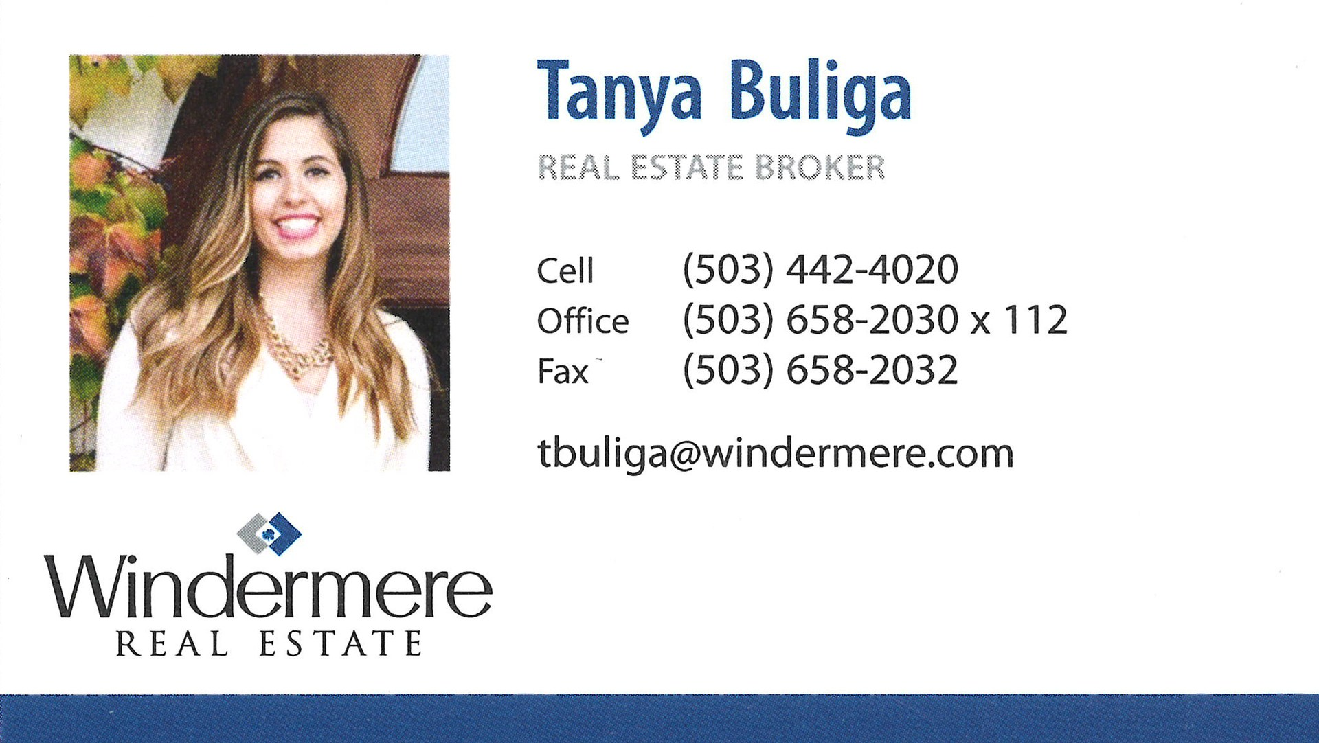 Tanya Buliga-Windemere logo