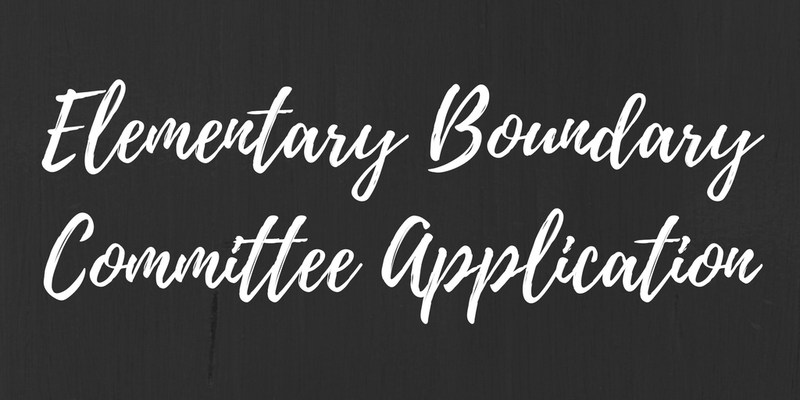 Elementary Boundary Committee - Application Thumbnail Image