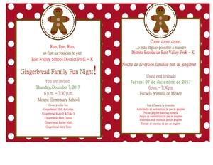 Invitation to the event.