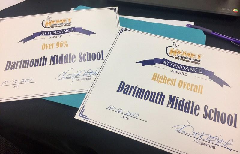 Dartmouth Attendance Award