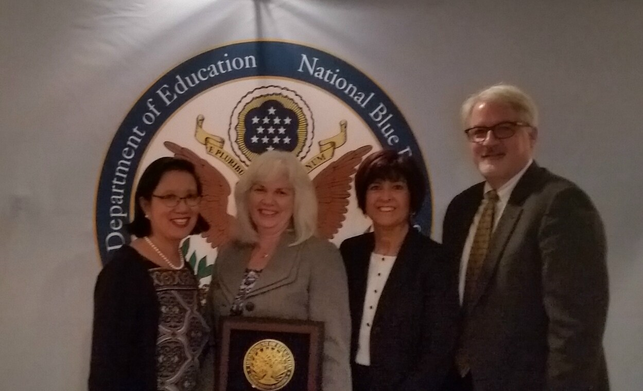 Mrs. Keefe at the Blue Ribbon ceremony in Washington DC in November 2017.