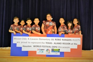 Cavazos Elementary LiL Robo-Rangers getting ready fro the World Festival Expo that will be held in Houston, Texas.