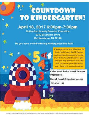Countdown to Kindergarten Flyer