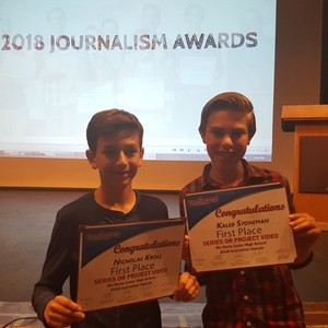 Congratulations to Nicholas and Kaleb for their awesome win!