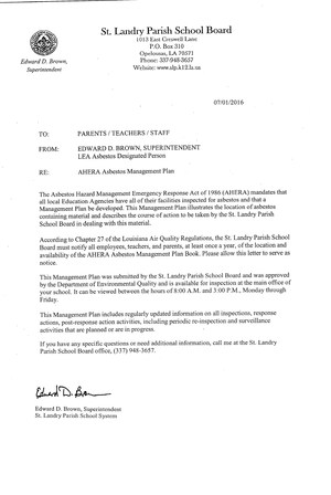 DEQ Letter