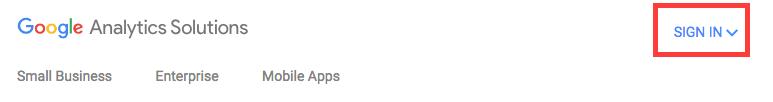 Sign into on Google Analytics