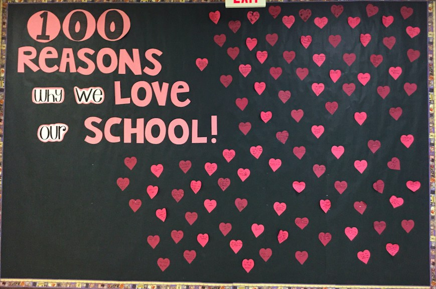 100 Reasons Why we love our school