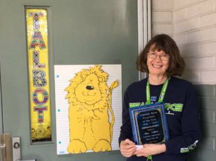 Columbia Basin Herald's 2016-17 Teacher of the Year, Gayle Talbot. She teaches 4th grade at Lakeview Elementary.