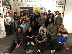 Students visit the Punk Exhibit