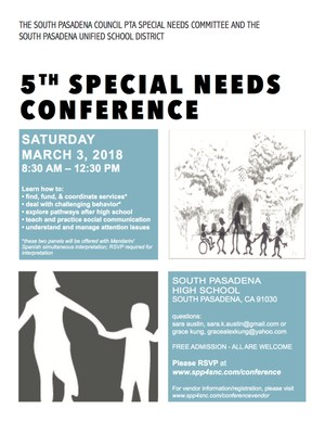 Speical Needs Conference - English flyer.png
