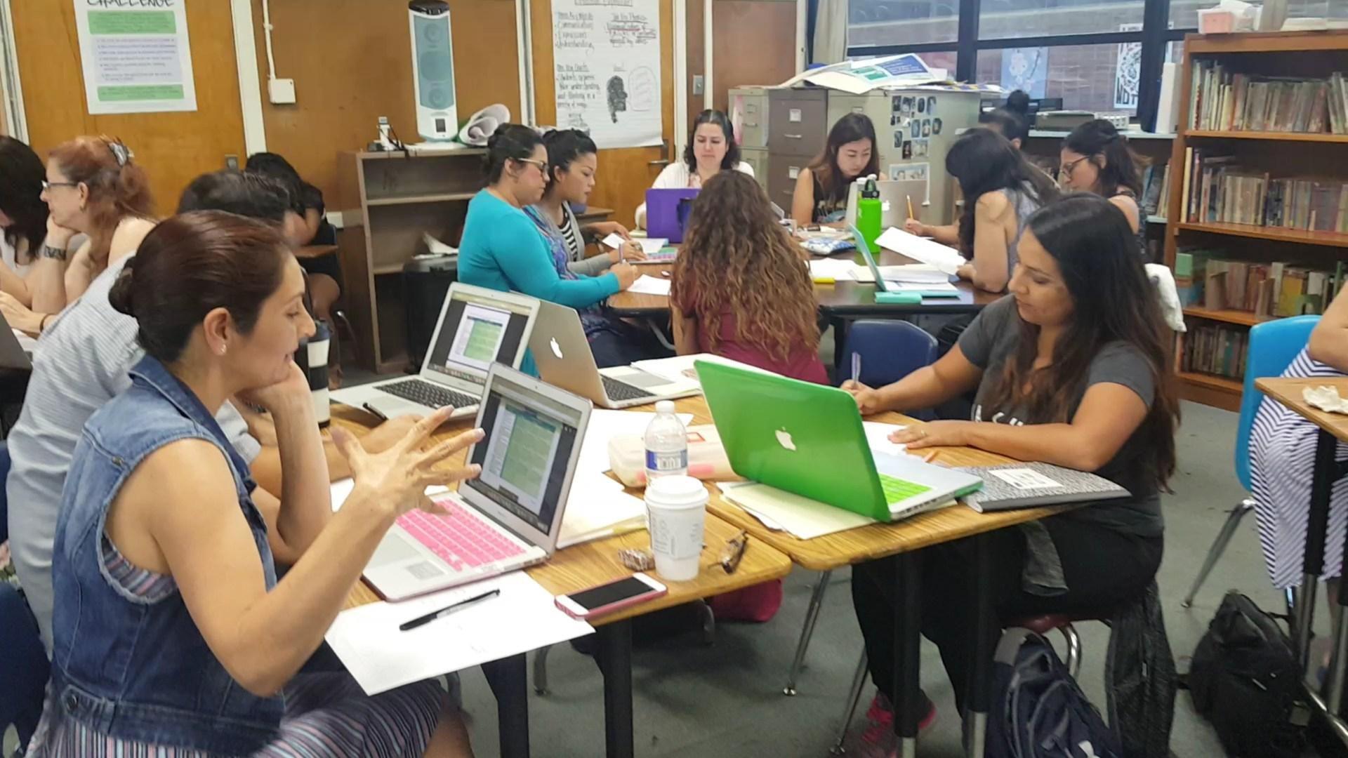 Teachers planning an ELD Unit