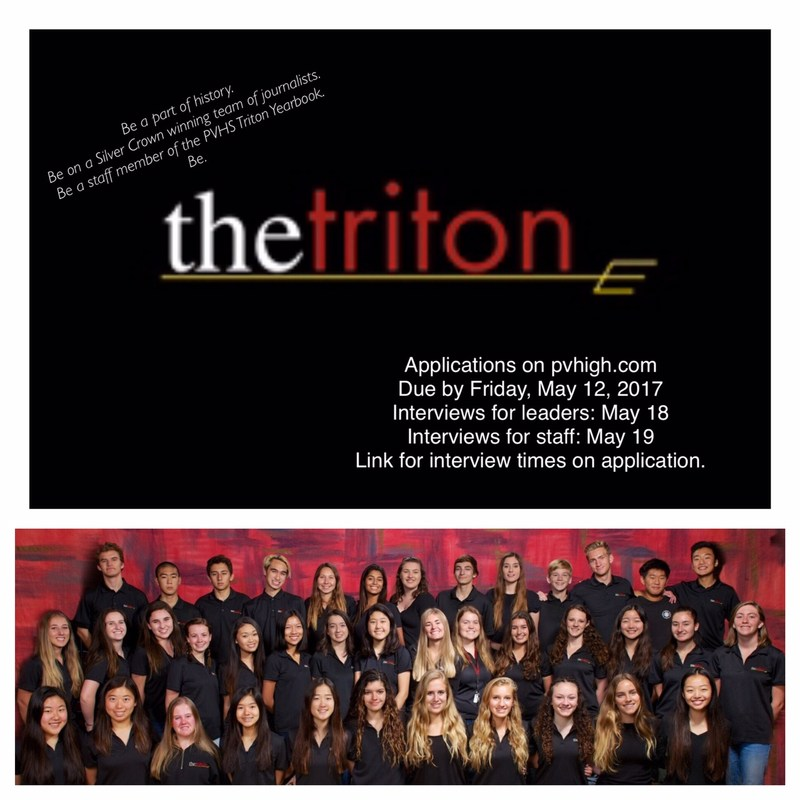 Triton Yearbook Staff Applications Thumbnail Image