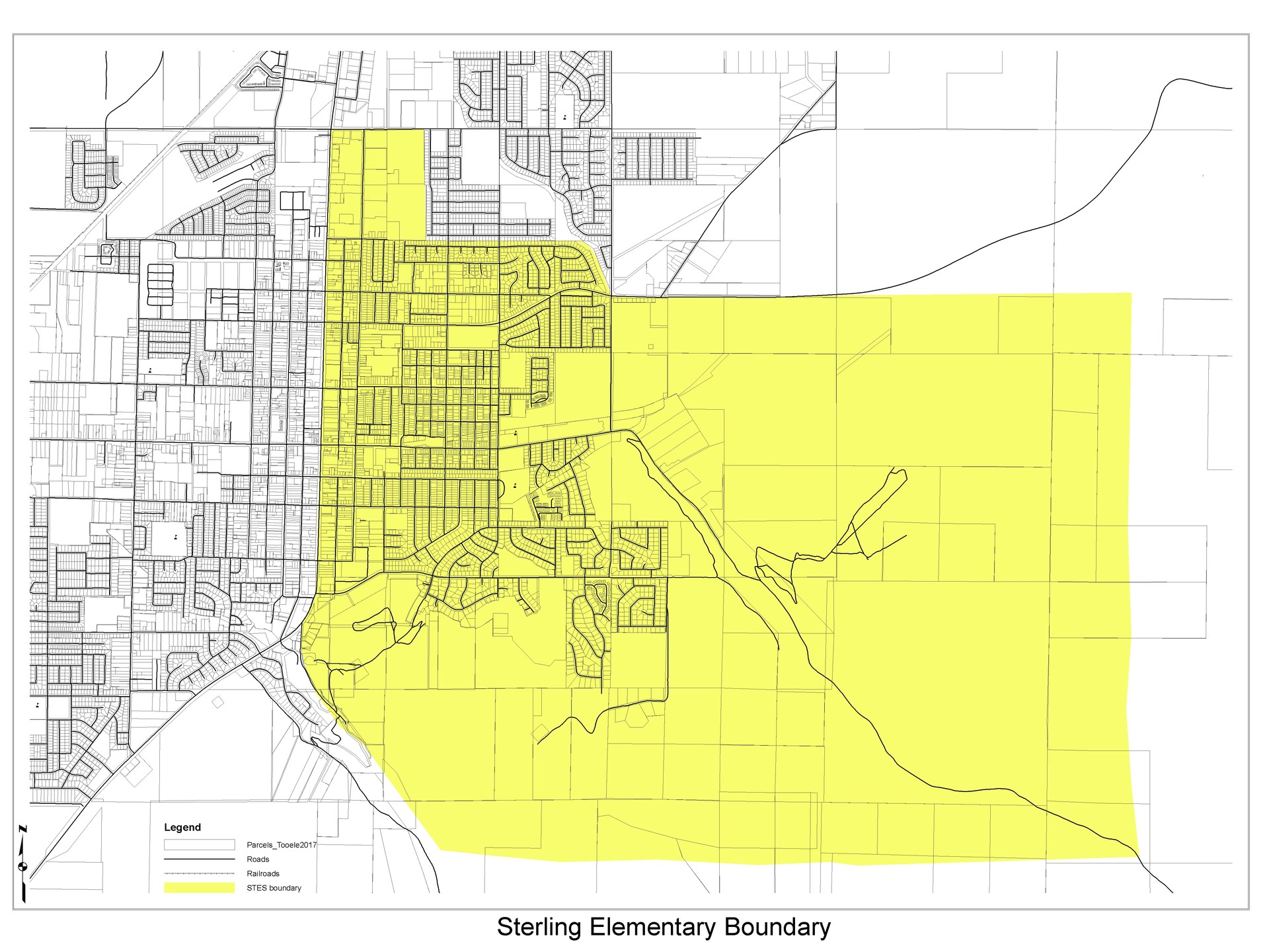 Sterling Elementary School boundary
