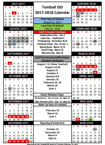 School Calendar  Kristi Budd  Timber Creek Elementary School