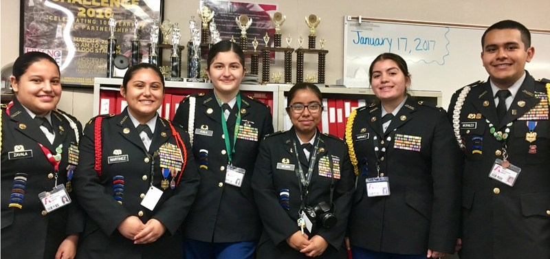 JROTC Leadership students at Arvin High School