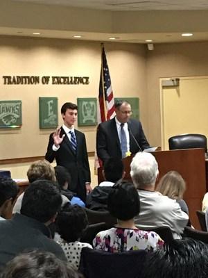 student school board representative sworn in