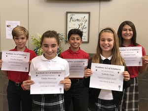 South Campus Winners: 4th Grade:  GiuliaM. Leader Dogs.  5th Grade:  Isabella P. Leader Dogs.  6th Grade:  Charlie W. Water for the People.  7th Grade:  Eddie A. Capuchin Soup Kitchen.  8th Grade: Meghan V. Leader Dogs.