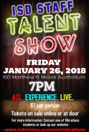 ISD Staff Talent Show flyer