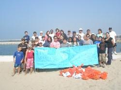 Coastal Clean up 2009 group.JPG