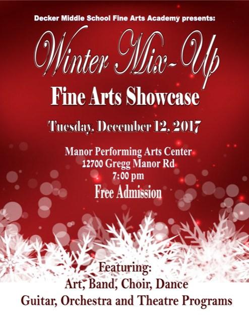 Winter Mix-Up Fine Arts Showcase Thumbnail Image