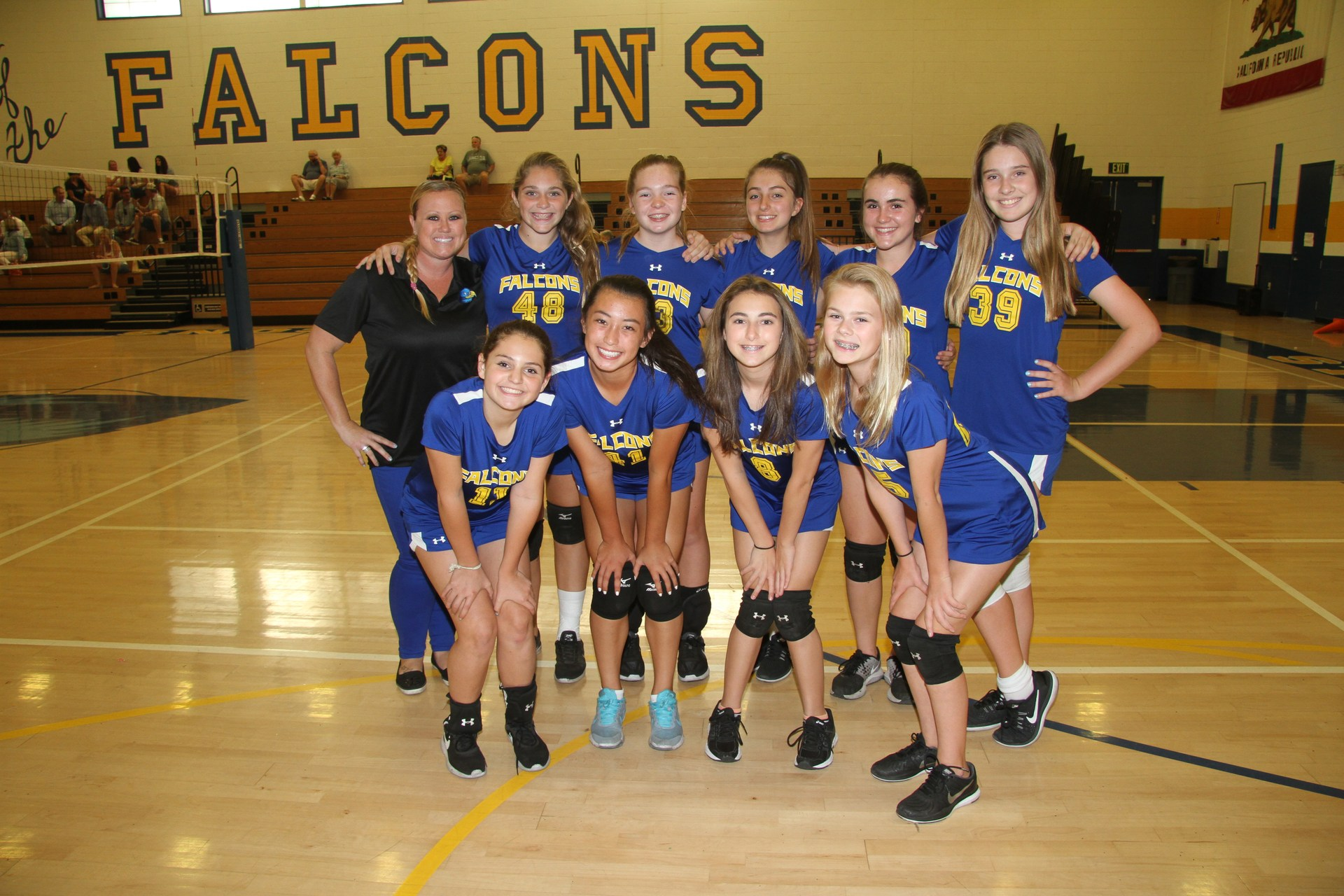 team photo of canyon A girls volleyball