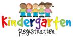 Colorful kindergarten registration sign