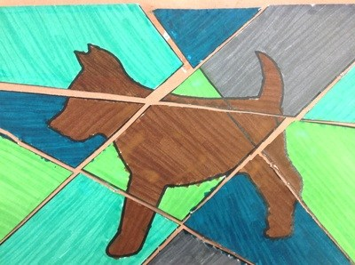 Student art of a dog.