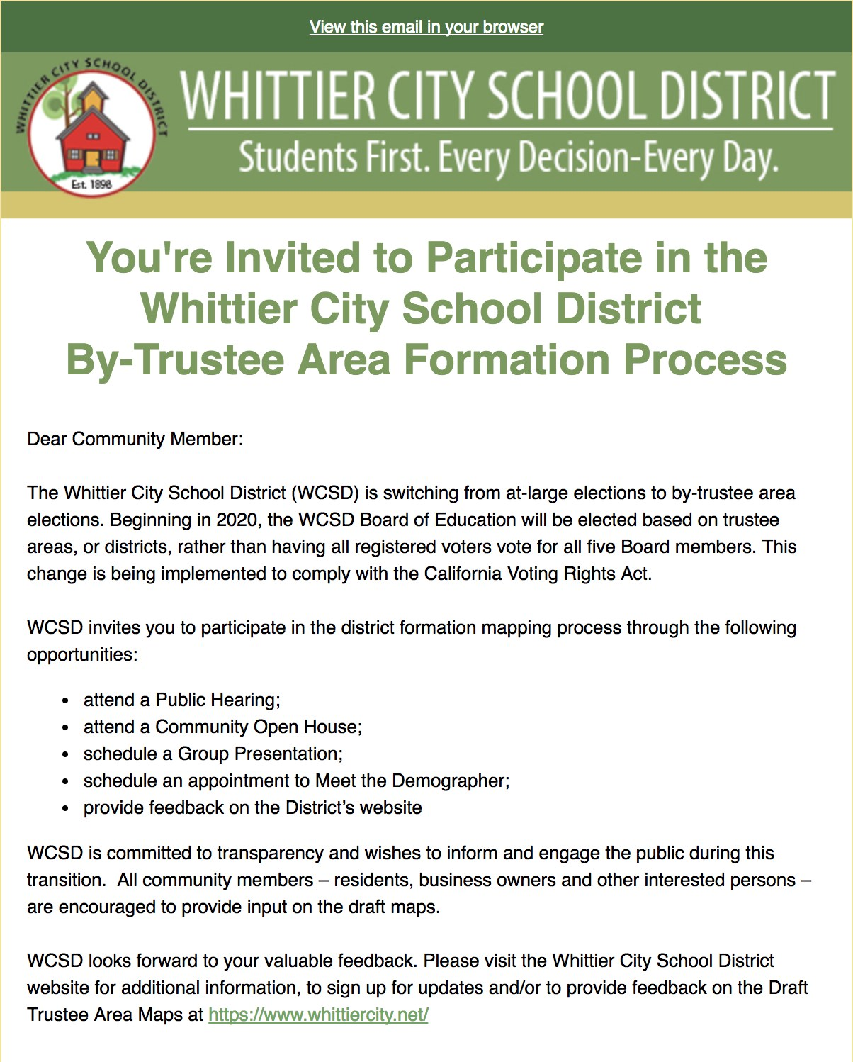Picture of Trustee Area Formation process Flyer